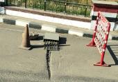 Oberägypten-Straßensperre