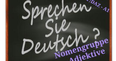 Nomengruppe und Adjektive